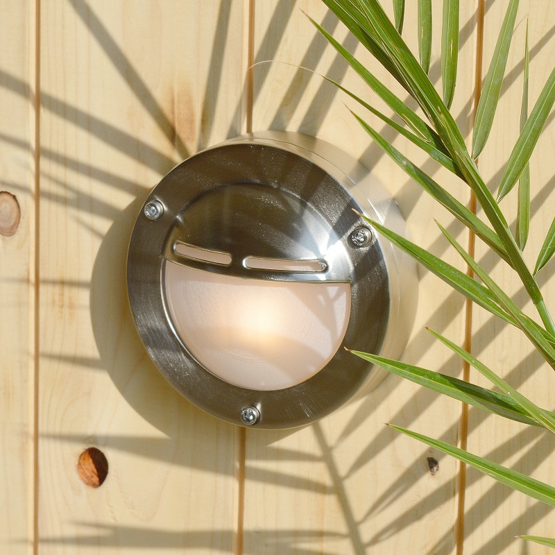 Chatham Eyelid Wall Light - Solid Brass, Nickel Plated Finish
