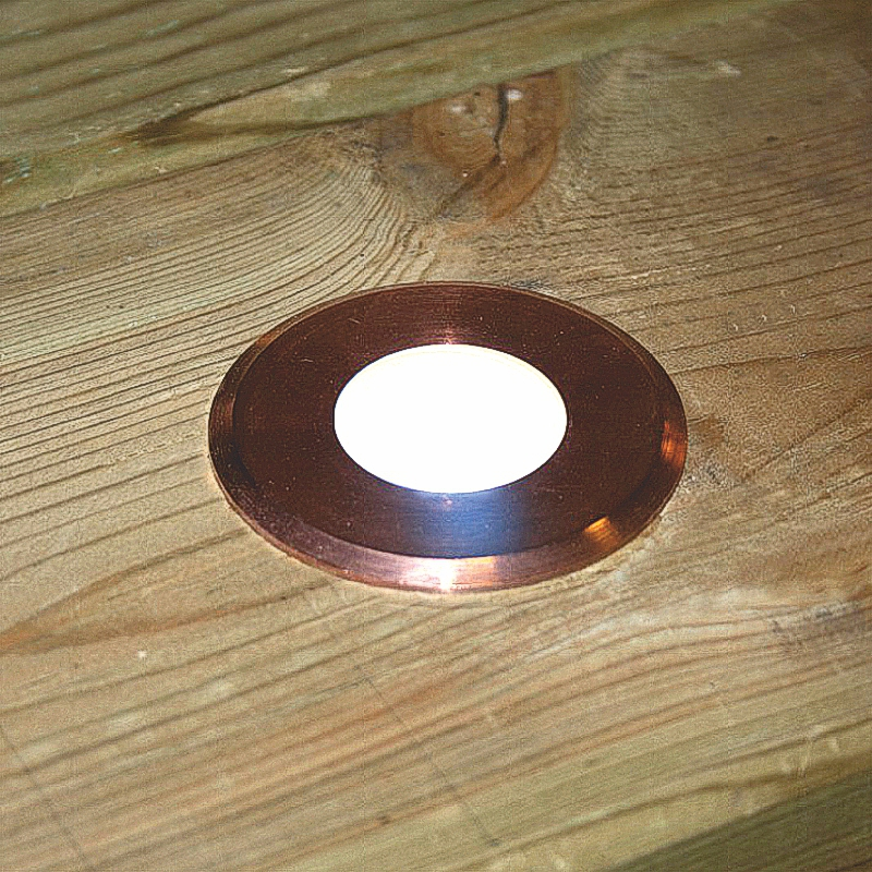 Navigator Maxor - Copper - 12v - Warm White LED - Round