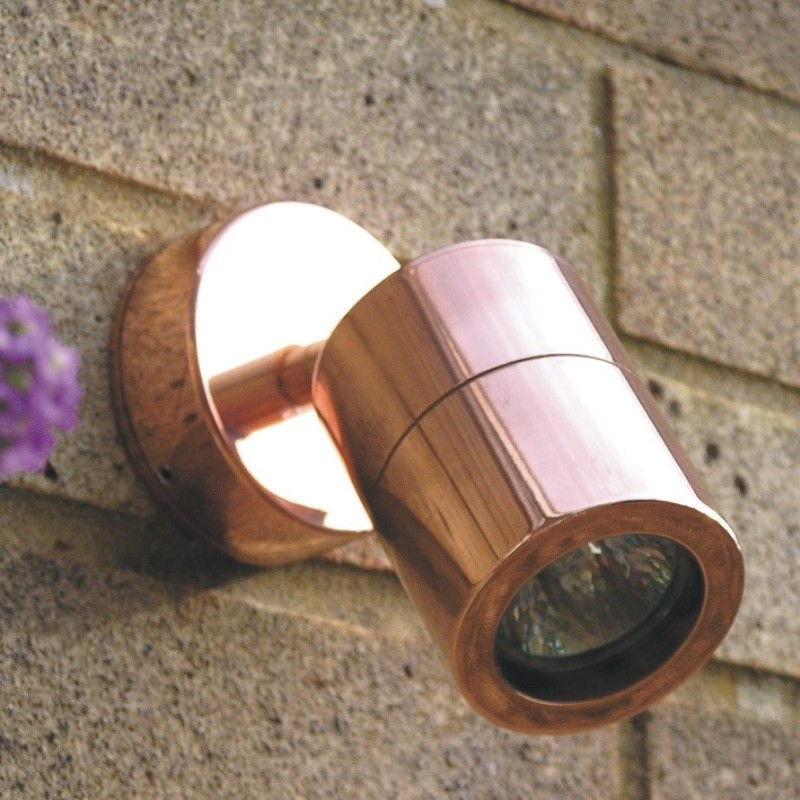 Elipta Compact wall spotlight in copper