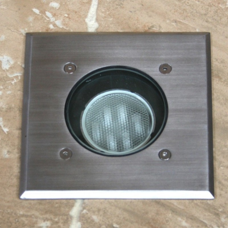 Neptune Recessed Light With Square Top - Stainless steel