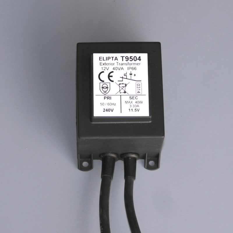 Surface-mount Exterior Transformer - 12v ac - 40va