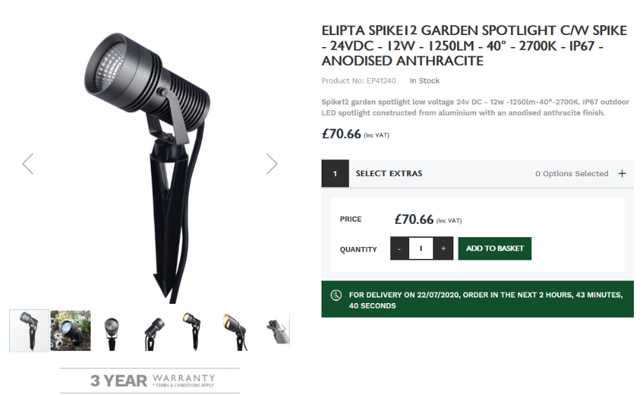 Elipta Spike12 Product Page